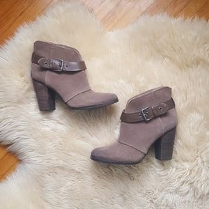 BCBG Genuine Leather Ankle Boots